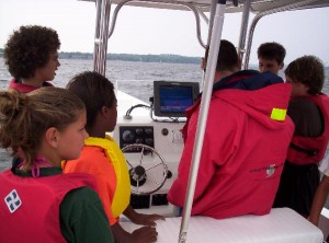 Explorers finding a shipwreck with the digital depth sounder before sending the ROV down to the wreck.