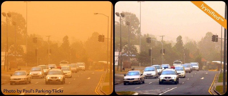 Brisbane in red dust storm