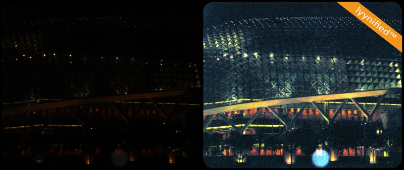 """Birds nest"" Olympic Stadium in Beijing in lowlight"