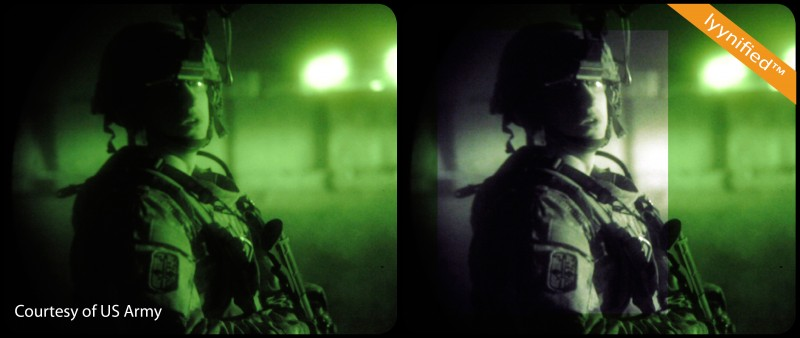 Enhanced night vision system. Photo courtesy of US Army