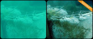 A damaged subsea construction
