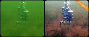 Placing an instrument on the sea floor
